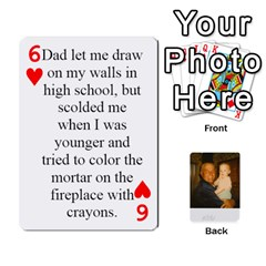 Memories Of Dad By Erica   Playing Cards 54 Designs   Ji0dbkozetpg   Www Artscow Com Front - Heart6