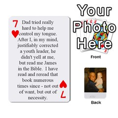 Memories Of Dad By Erica   Playing Cards 54 Designs (rectangle)   Ji0dbkozetpg   Www Artscow Com Front - Heart7