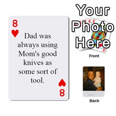 Memories Of Dad By Erica   Playing Cards 54 Designs   Ji0dbkozetpg   Www Artscow Com Front - Heart8