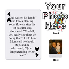 Memories Of Dad By Erica   Playing Cards 54 Designs (rectangle)   Ji0dbkozetpg   Www Artscow Com Front - Spade4
