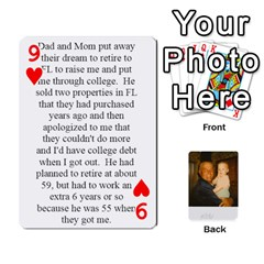 Memories Of Dad By Erica   Playing Cards 54 Designs (rectangle)   Ji0dbkozetpg   Www Artscow Com Front - Heart9