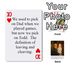 Memories Of Dad By Erica   Playing Cards 54 Designs (rectangle)   Ji0dbkozetpg   Www Artscow Com Front - Heart10