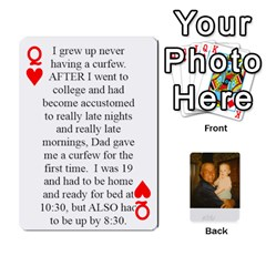 Queen Memories Of Dad By Erica   Playing Cards 54 Designs (rectangle)   Ji0dbkozetpg   Www Artscow Com Front - HeartQ