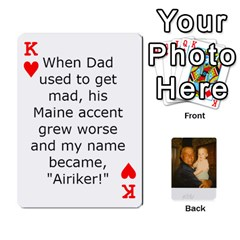 King Memories Of Dad By Erica   Playing Cards 54 Designs (rectangle)   Ji0dbkozetpg   Www Artscow Com Front - HeartK
