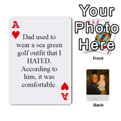 Ace Memories Of Dad By Erica   Playing Cards 54 Designs (rectangle)   Ji0dbkozetpg   Www Artscow Com Front - HeartA