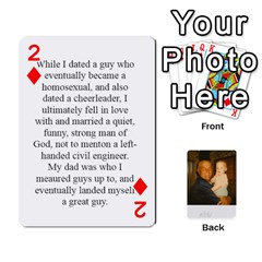 Memories Of Dad By Erica   Playing Cards 54 Designs (rectangle)   Ji0dbkozetpg   Www Artscow Com Front - Diamond2