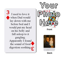 Memories Of Dad By Erica   Playing Cards 54 Designs (rectangle)   Ji0dbkozetpg   Www Artscow Com Front - Diamond3