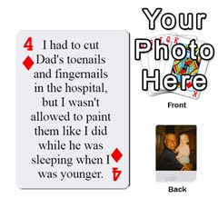 Memories Of Dad By Erica   Playing Cards 54 Designs (rectangle)   Ji0dbkozetpg   Www Artscow Com Front - Diamond4