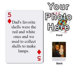 Memories Of Dad By Erica   Playing Cards 54 Designs (rectangle)   Ji0dbkozetpg   Www Artscow Com Front - Diamond5