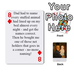 Memories Of Dad By Erica   Playing Cards 54 Designs (rectangle)   Ji0dbkozetpg   Www Artscow Com Front - Diamond8