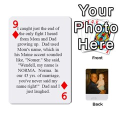 Memories Of Dad By Erica   Playing Cards 54 Designs   Ji0dbkozetpg   Www Artscow Com Front - Diamond9