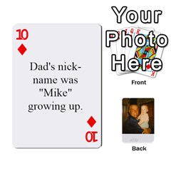 Memories Of Dad By Erica   Playing Cards 54 Designs   Ji0dbkozetpg   Www Artscow Com Front - Diamond10