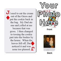 Jack Memories Of Dad By Erica   Playing Cards 54 Designs (rectangle)   Ji0dbkozetpg   Www Artscow Com Front - DiamondJ