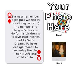 Queen Memories Of Dad By Erica   Playing Cards 54 Designs (rectangle)   Ji0dbkozetpg   Www Artscow Com Front - DiamondQ