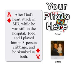 Ace Memories Of Dad By Erica   Playing Cards 54 Designs (rectangle)   Ji0dbkozetpg   Www Artscow Com Front - DiamondA