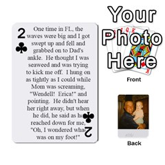 Memories Of Dad By Erica   Playing Cards 54 Designs (rectangle)   Ji0dbkozetpg   Www Artscow Com Front - Club2