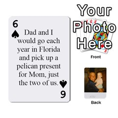 Memories Of Dad By Erica   Playing Cards 54 Designs (rectangle)   Ji0dbkozetpg   Www Artscow Com Front - Spade6