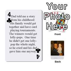 Memories Of Dad By Erica   Playing Cards 54 Designs   Ji0dbkozetpg   Www Artscow Com Front - Club4