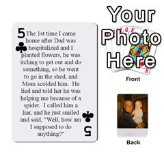 Memories Of Dad By Erica   Playing Cards 54 Designs (rectangle)   Ji0dbkozetpg   Www Artscow Com Front - Club5