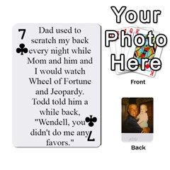 Memories Of Dad By Erica   Playing Cards 54 Designs (rectangle)   Ji0dbkozetpg   Www Artscow Com Front - Club7