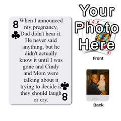 Memories Of Dad By Erica   Playing Cards 54 Designs   Ji0dbkozetpg   Www Artscow Com Front - Club8