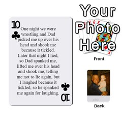 Memories Of Dad By Erica   Playing Cards 54 Designs   Ji0dbkozetpg   Www Artscow Com Front - Club10