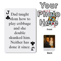 Jack Memories Of Dad By Erica   Playing Cards 54 Designs (rectangle)   Ji0dbkozetpg   Www Artscow Com Front - ClubJ