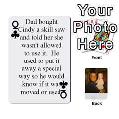 Queen Memories Of Dad By Erica   Playing Cards 54 Designs   Ji0dbkozetpg   Www Artscow Com Front - ClubQ