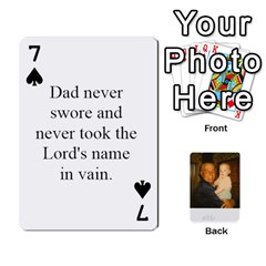 Memories Of Dad By Erica   Playing Cards 54 Designs   Ji0dbkozetpg   Www Artscow Com Front - Spade7