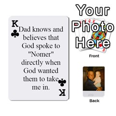 King Memories Of Dad By Erica   Playing Cards 54 Designs (rectangle)   Ji0dbkozetpg   Www Artscow Com Front - ClubK