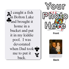 Ace Memories Of Dad By Erica   Playing Cards 54 Designs (rectangle)   Ji0dbkozetpg   Www Artscow Com Front - ClubA