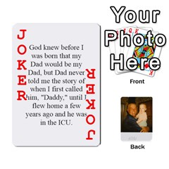 Memories Of Dad By Erica   Playing Cards 54 Designs (rectangle)   Ji0dbkozetpg   Www Artscow Com Front - Joker2