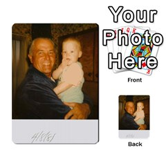 Memories Of Dad By Erica   Playing Cards 54 Designs (rectangle)   Ji0dbkozetpg   Www Artscow Com Back