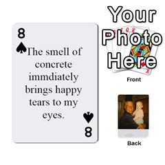 Memories Of Dad By Erica   Playing Cards 54 Designs (rectangle)   Ji0dbkozetpg   Www Artscow Com Front - Spade8
