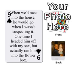 Memories Of Dad By Erica   Playing Cards 54 Designs (rectangle)   Ji0dbkozetpg   Www Artscow Com Front - Spade9