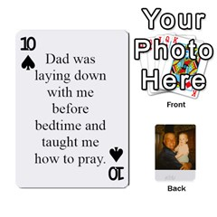 Memories Of Dad By Erica   Playing Cards 54 Designs (rectangle)   Ji0dbkozetpg   Www Artscow Com Front - Spade10