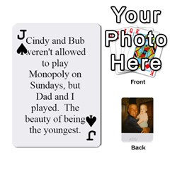 Jack Memories Of Dad By Erica   Playing Cards 54 Designs (rectangle)   Ji0dbkozetpg   Www Artscow Com Front - SpadeJ