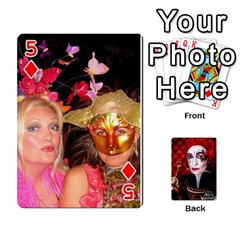 Jesselynn s Birthday Cards! By Sheila O donnell   Playing Cards 54 Designs   3s4lag938njv   Www Artscow Com Front - Diamond5