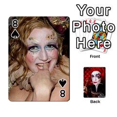 Jesselynn s Birthday Cards! By Sheila O donnell   Playing Cards 54 Designs   3s4lag938njv   Www Artscow Com Front - Spade8