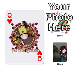 Queen Gorjuss Playing Cards By Kellie Simpson   Playing Cards 54 Designs   Isyrn0on42ut   Www Artscow Com Front - HeartQ
