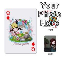 Queen Gorjuss Playing Cards By Kellie Simpson   Playing Cards 54 Designs   Isyrn0on42ut   Www Artscow Com Front - DiamondQ