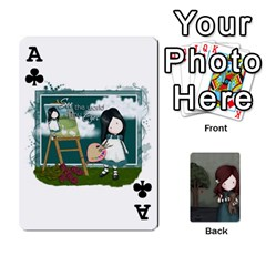Ace Gorjuss Playing Cards By Kellie Simpson   Playing Cards 54 Designs   Isyrn0on42ut   Www Artscow Com Front - ClubA