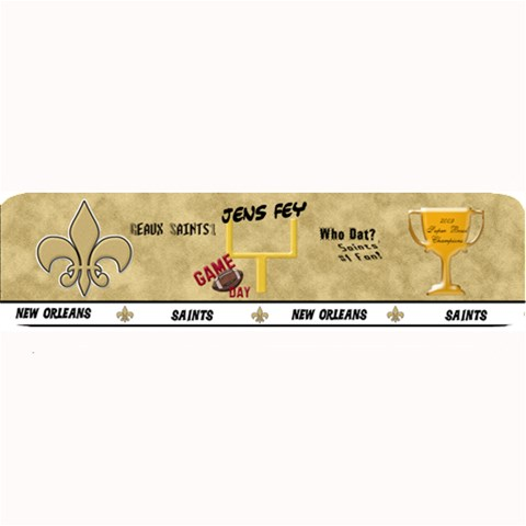 Saints Bar Mat By Vickey Davidson   Large Bar Mat   Cmknfiu5gg3s   Www Artscow Com 34 x9.03 Bar Mat - 1