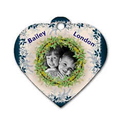 Moms Dogtag By Christy Fralin   Dog Tag Heart (two Sides)   Kqmv82lw9mw1   Www Artscow Com Front
