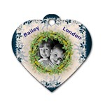 moms dogtag - Dog Tag Heart (Two Sides)