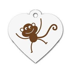Monkey Tag By Angelique Musick   Dog Tag Heart (two Sides)   2e7g5uy3umod   Www Artscow Com Back