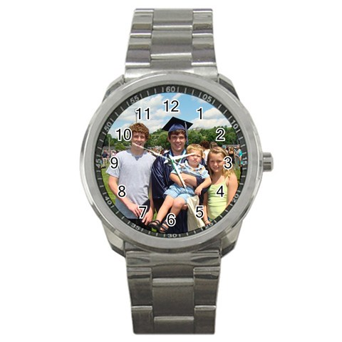 Father In Laws Gift, Check! By Tammy Coffman   Sport Metal Watch   Cg04bpy5yh6r   Www Artscow Com Front