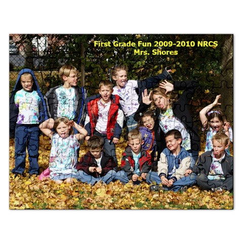 1st Grade 2009 2010 By Marybeth Lynn   Jigsaw Puzzle (rectangular)   7vf22i434v6p   Www Artscow Com Front