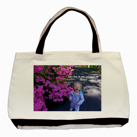 Flower Bag By Stacy Albert   Basic Tote Bag   At70fl8hfr90   Www Artscow Com Front