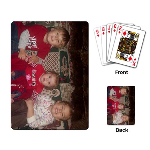 Playing Cards By Heather Parsons   Playing Cards Single Design   9bjx6in3y29a   Www Artscow Com Back